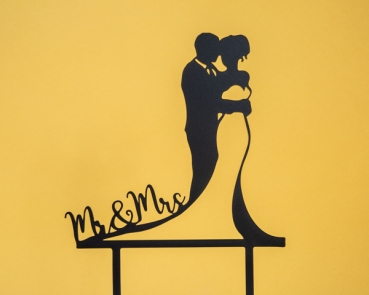 "Topper Brautpaar ""Mr & Mrs"""