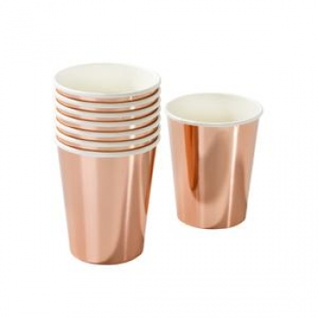 Becher Rosé Gold Design 8 Stk