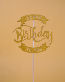 "Papier-Topper ""Happy Birthday to you"""