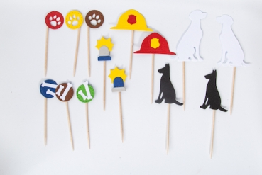 "Papier Cupcake Topper Set ""Chase & Marshall"""