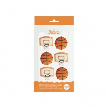 Zucker Dekor Basketball 6 Stk.