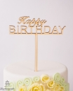 "Holz Topper ""Happy Birthday"""